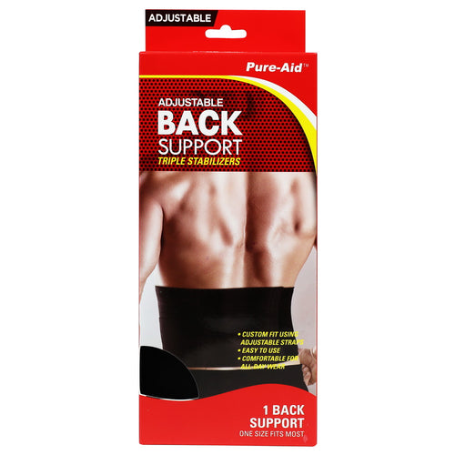 Pure-Aid Adjustable Back Support