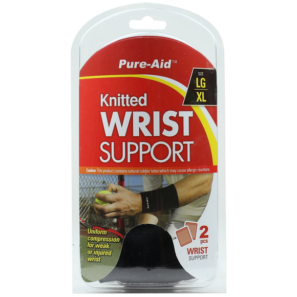 Pure-Aid Knitted Wrist Support (LG-XL)-2pc, 1ct  (Compare to ACE)