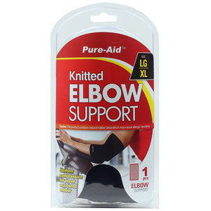 Pure-Aid Knitted Elbow Support (LG-XL), 1ct  (Compare to ACE)