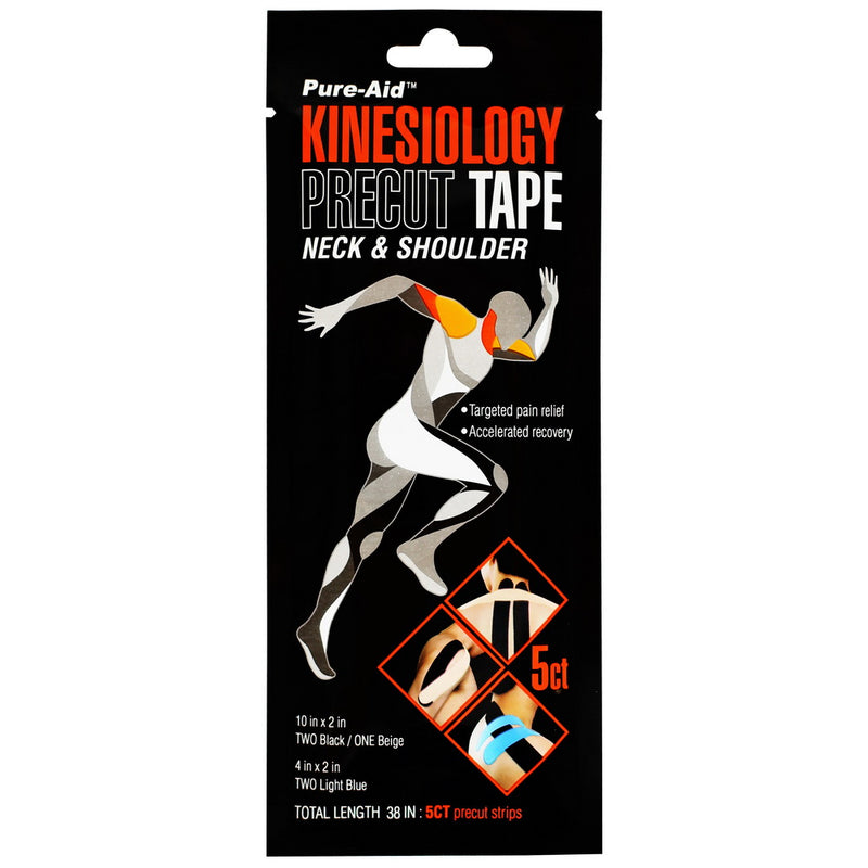 Pure-Aid Kinesiology Precut Tape Neck & Shoulder, 1ct