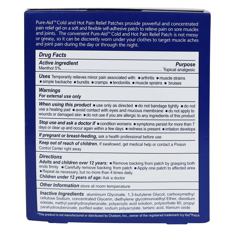Pure-Aid Pain Relief Medicated Patch, 5ct (Compare to Icy Hot)