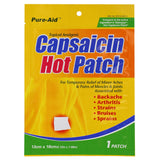 Pure-Aid Capsaicin Hot Patch,  1ct