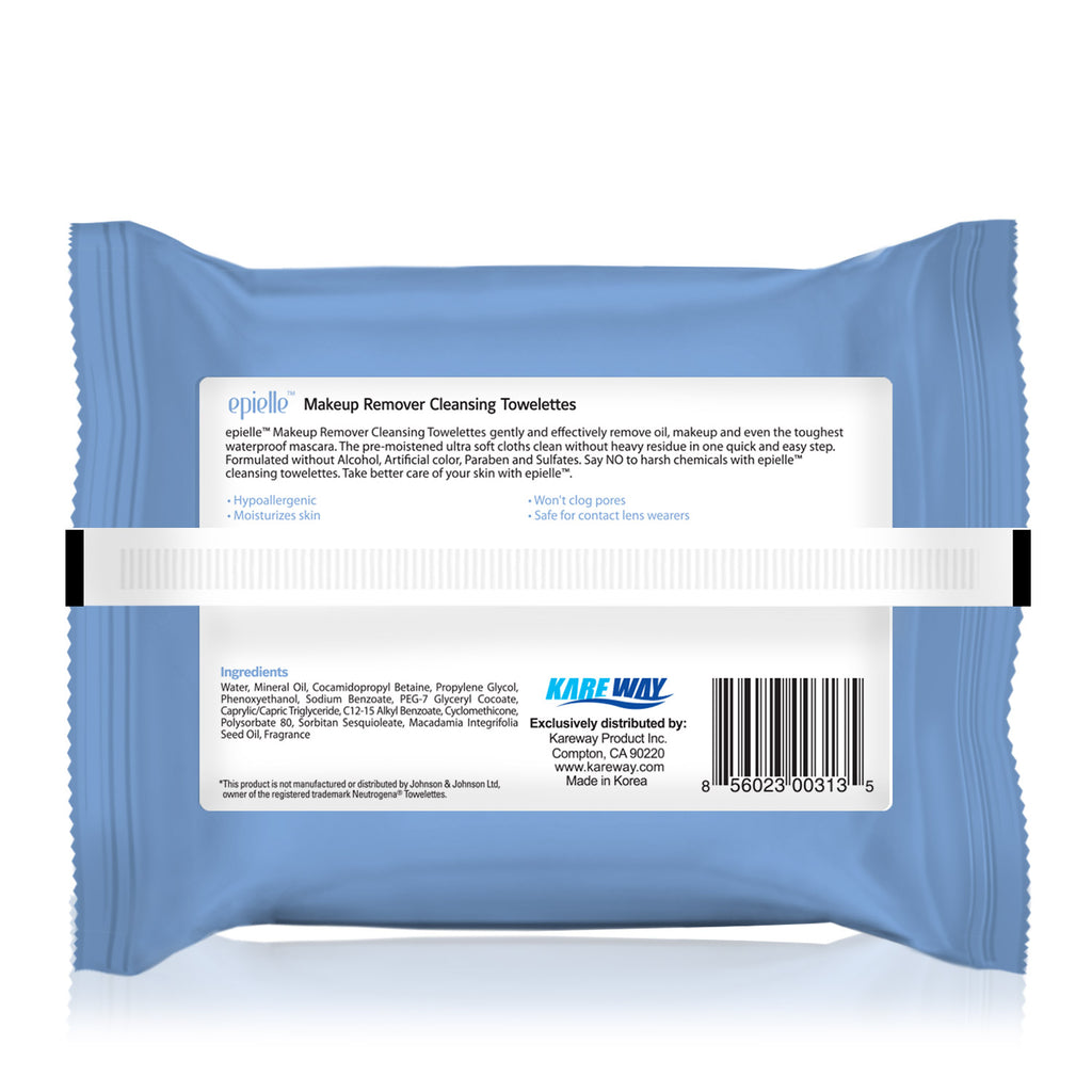 epielle®Makeup Remover Cleansing Tissues, 30ct (Compared to Neutrogena Wipes)