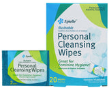 epielle Personal Cleansing Individual Wipes, 20ct