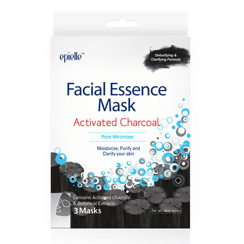 epielle®Charcoal Facial Essence Mask, 3ct