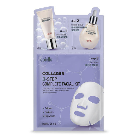 epielle®3-Step Collagen Essence Facial Mask Kit, 1ct