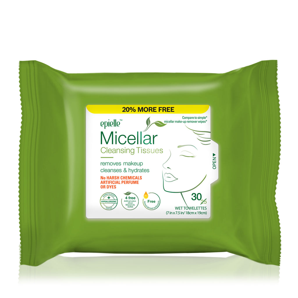 epielle®Micellar Cleansing Tissues, 30ct (Compare to Garnier)