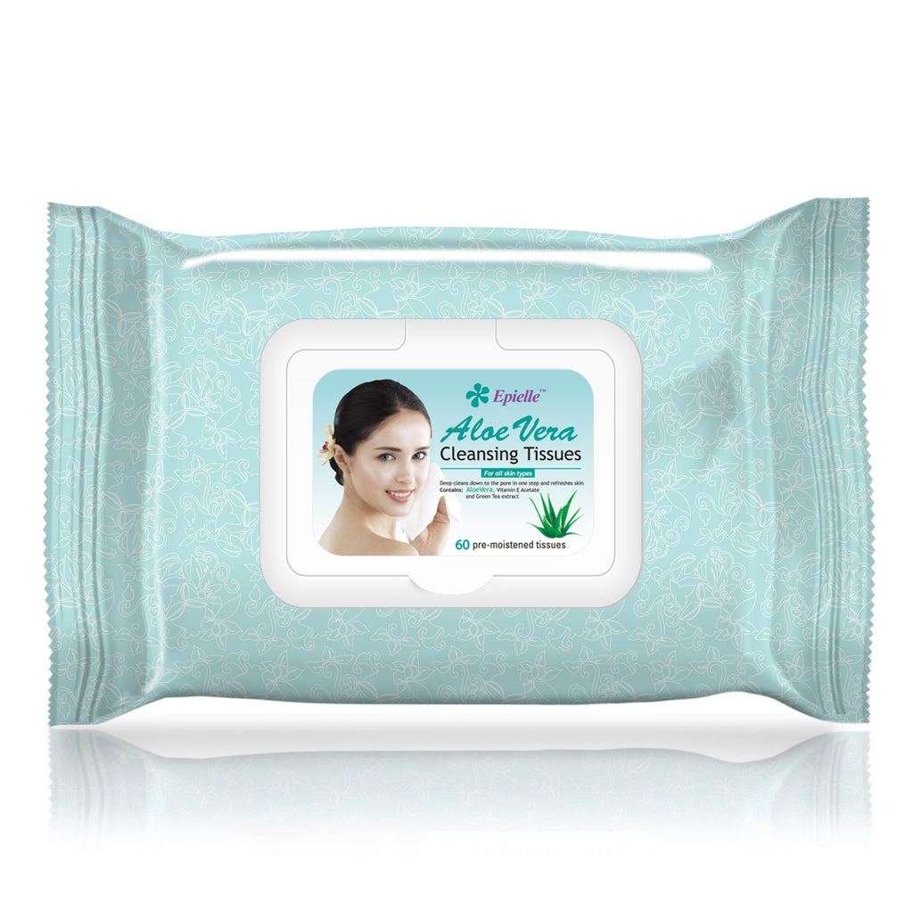 epielle®Aloe Vera Facial Cleansing Tissues, 60ct