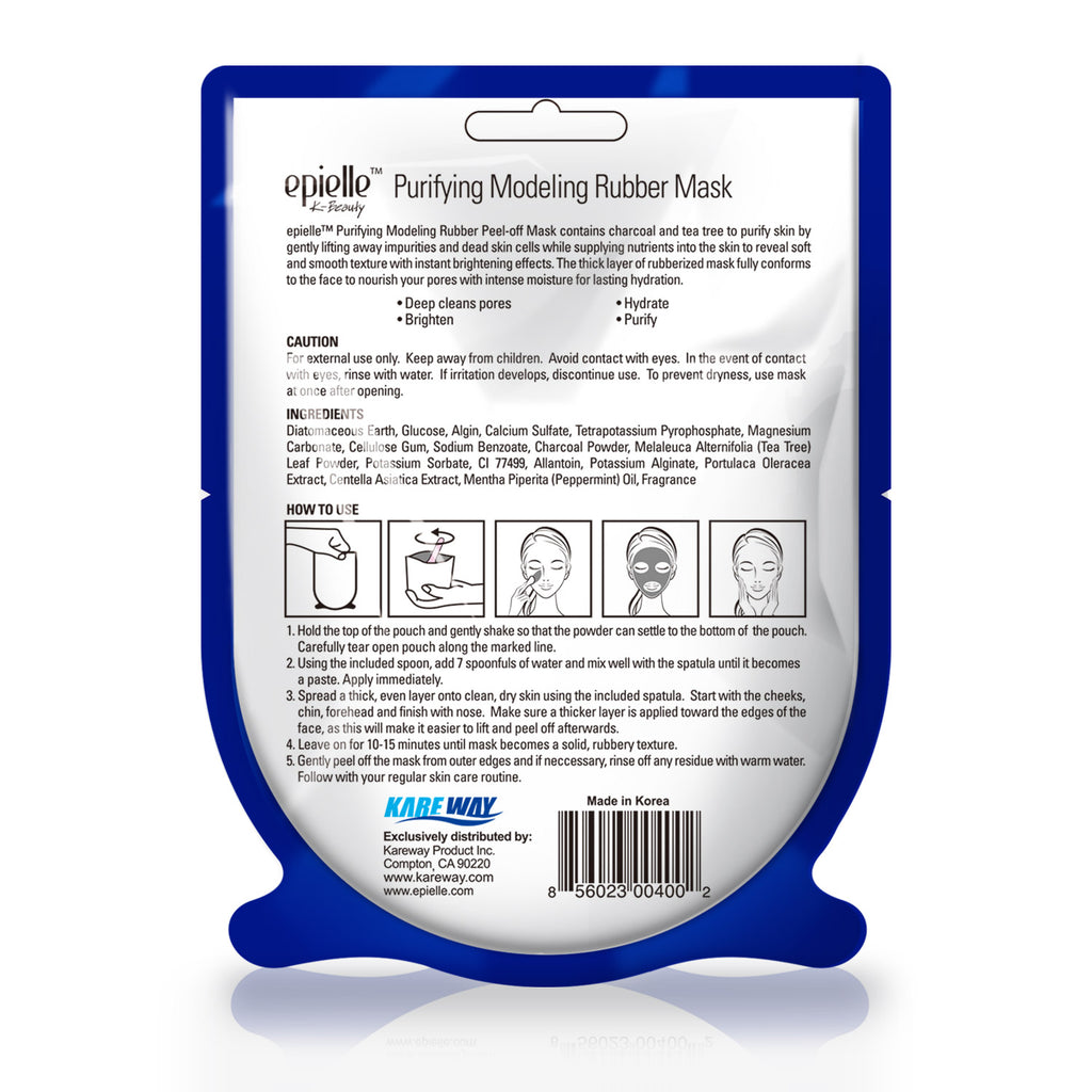 epielle®Purifying Modeling Rubber Peel-Off Facial Mask, 1ct