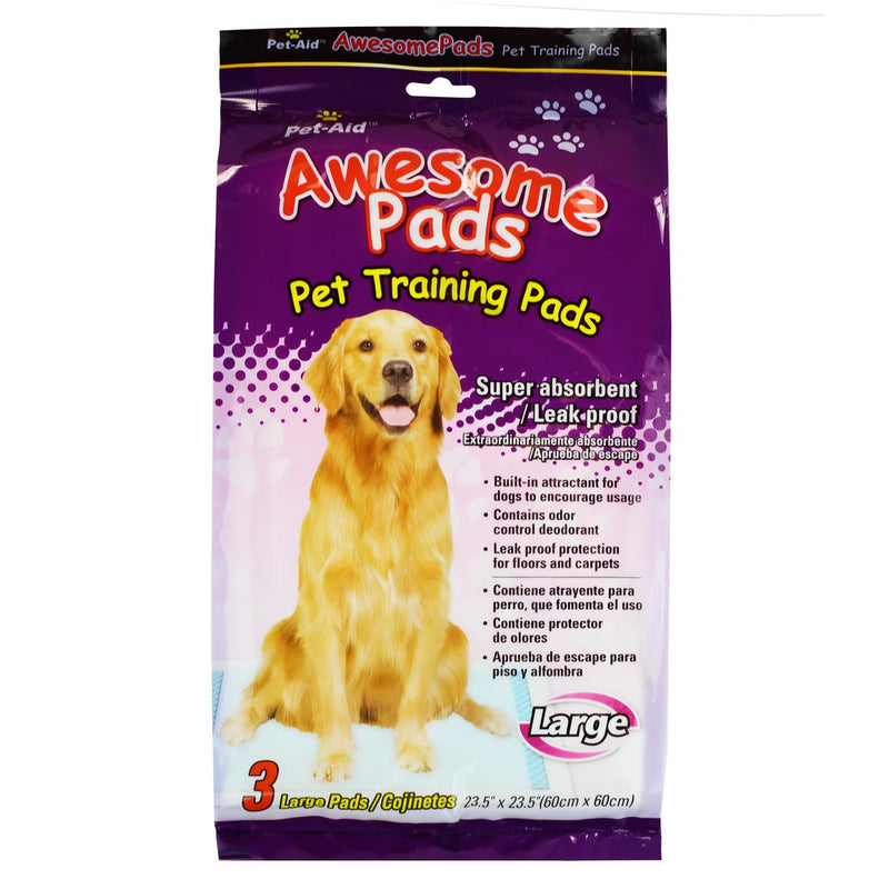 Pet-Aid Pet Training Pads-Large, 3ct (Compare to Wee Wee pads)