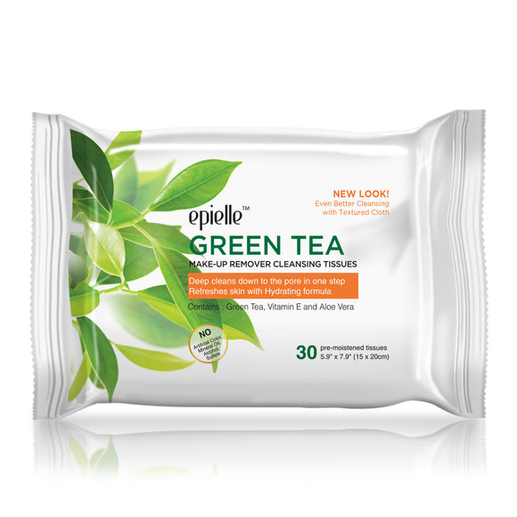 epielleⓇ Green Tea Make-Up Remover Cleansing Tissues, 30ct