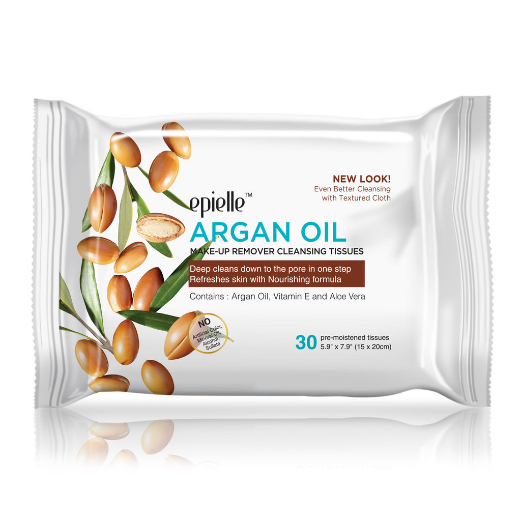 epielle®Argan Oil Make-up Removing Cleansing Tissues, 30ct