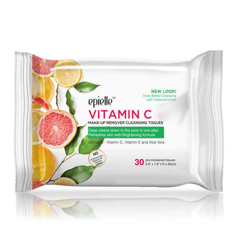 epielle®Vitamin C Make-up Removing Cleansing Tissues, 30ct
