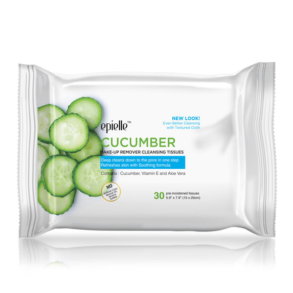 epielle®Cucumber Make-up Removing Cleansing Tissues, 30ct