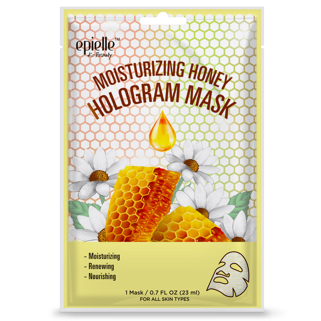 epielle®Moisturizing Honey Hologram Mask, 1ct