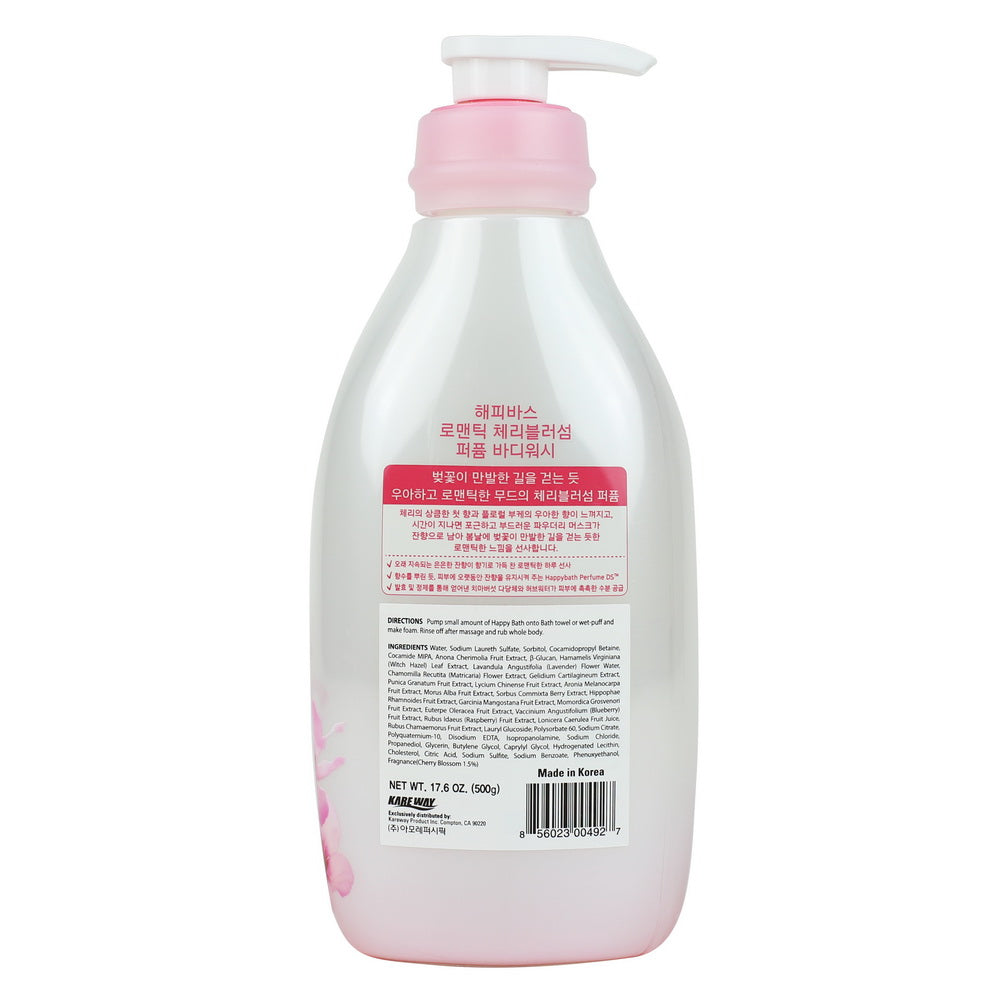 Happy Bath Cherry Blossom Essence Body Wash, 500g