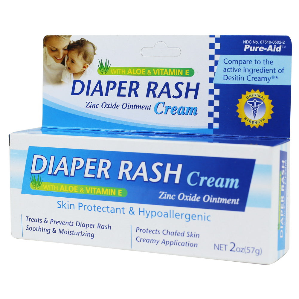 Pure-Aid Diaper Rash Cream, 2oz (Compare to Desitin)