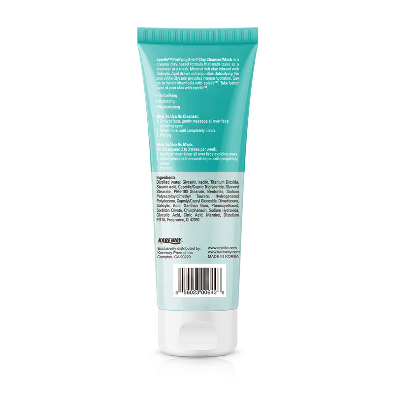 epielle®Purifying Clay Cleanser / Mask, 4.0 oz