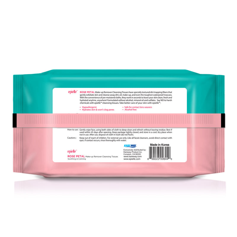 epielle®Rose Petal Facial Cleansing Tissues, 60ct