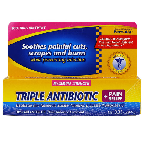 Pure-Aid Antibiotic Ointment (Compare to Neosporin)
