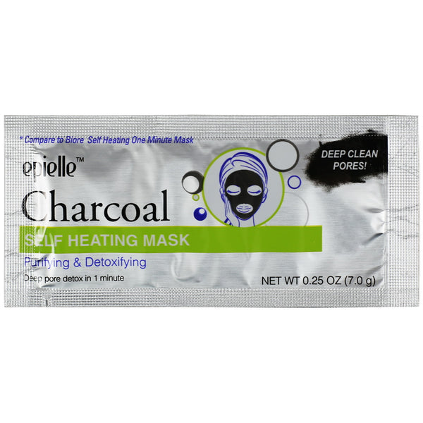 Epielle Charcoal Self Heating Mask, 1ct