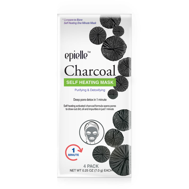 epielle®Charcoal Self Heating Mask, 1ct (Compare to Biore)