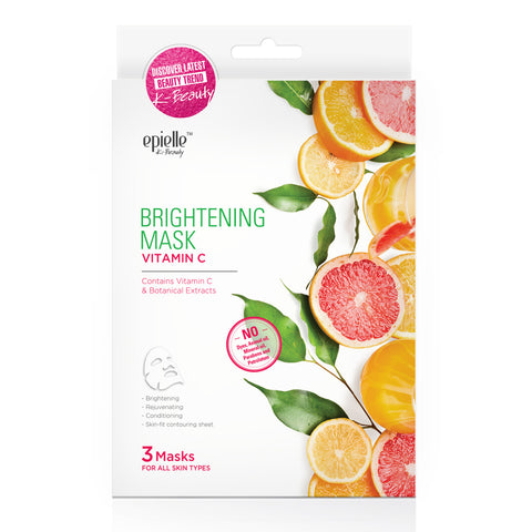 epielle®Vitamin C & E Facial Essence Mask 3-Step Kit, 1ct