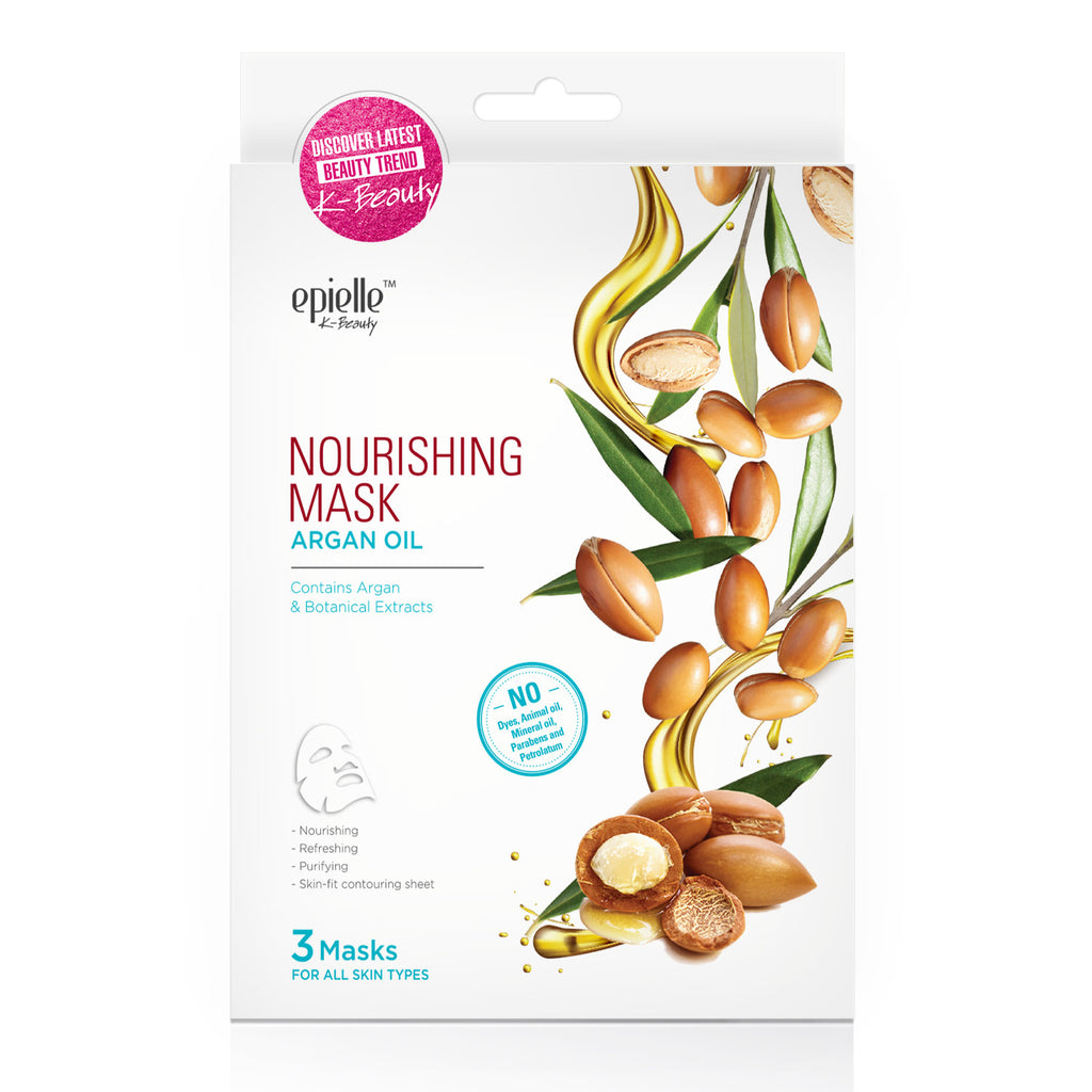 epielle®Argan Oil Nourishing Mask, 3ct