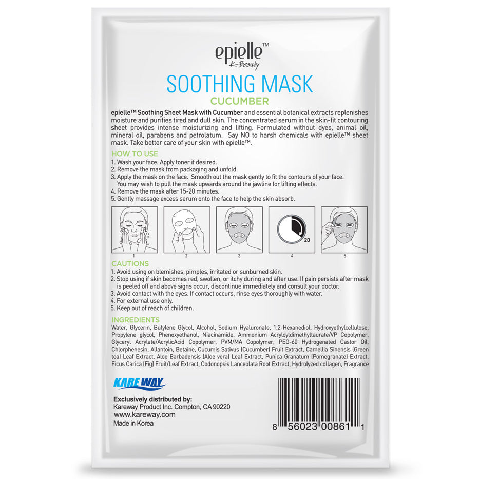 epielle®Cucumber Soothing Mask, 1ct