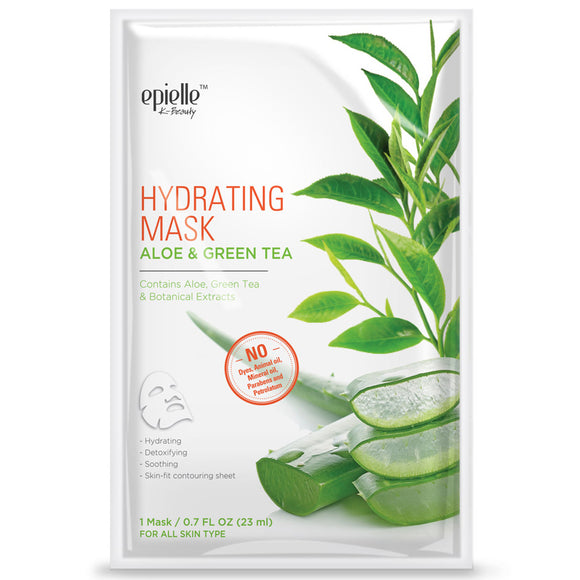 epielle Aloe & Green Tea Hydrating Mask, 1ct