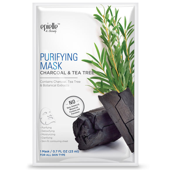 epielle Charcoal & Tea Tree Purifying Mask, 1ct