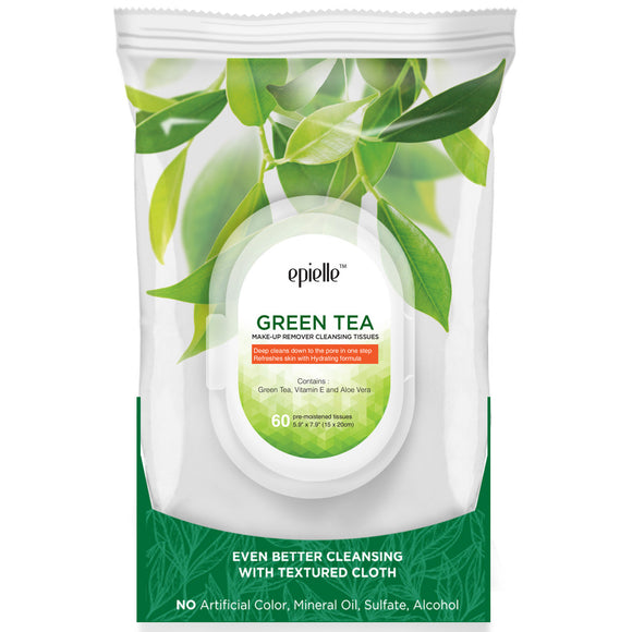 epielleⓇ Green Tea Make-Up Remover Cleansing Tissues, 60ct