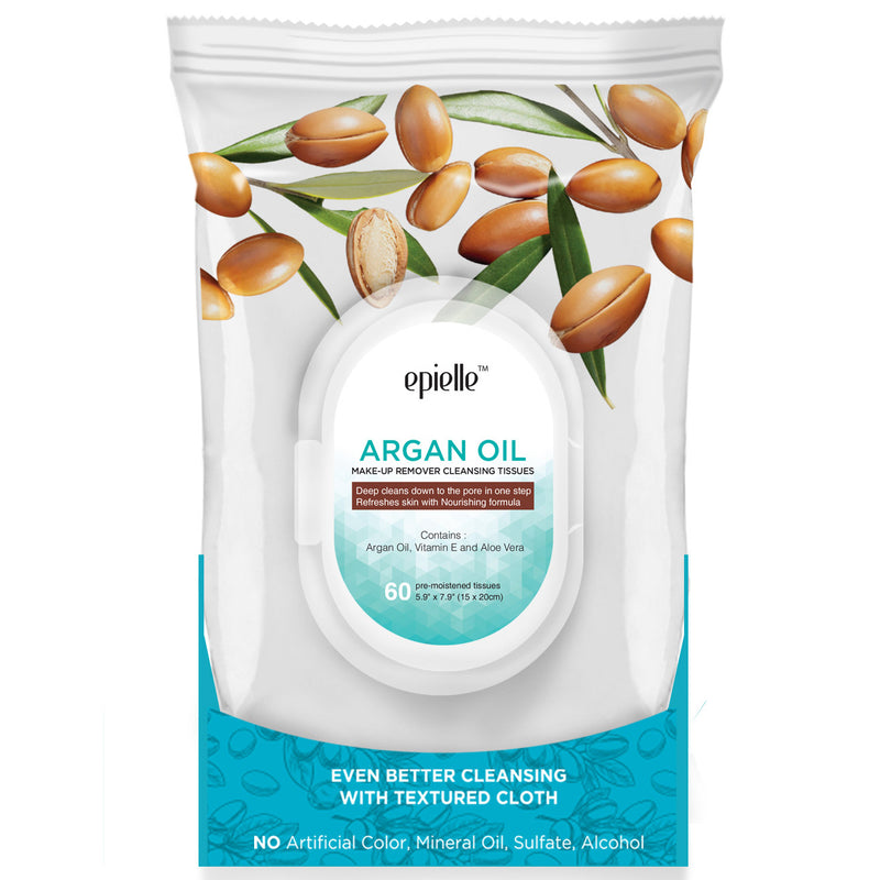 epielle®Argan Oil Make-Up Remover Cleansing Tissues, 60ct