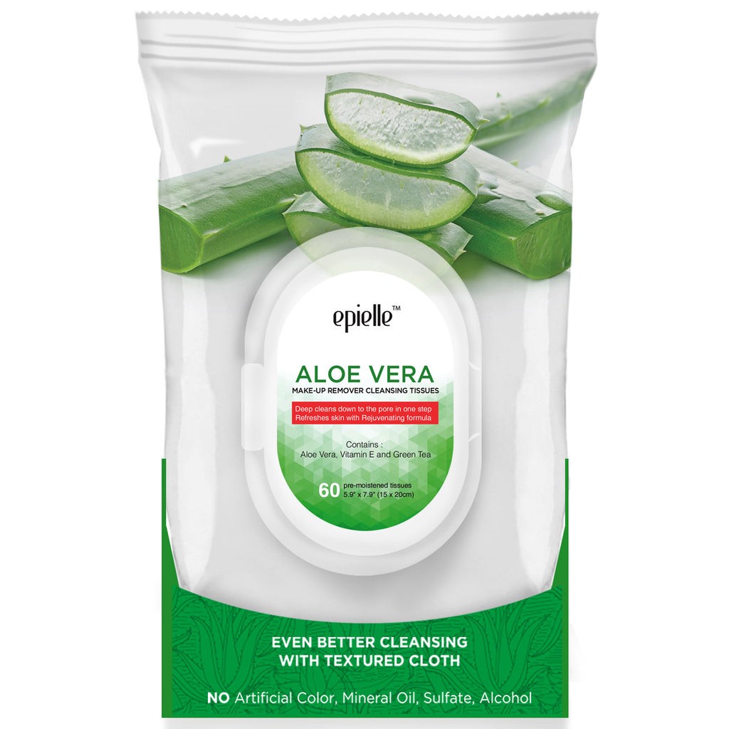 epielle®Aloe Vera Make-Up Remover Cleansing Tissues, 60ct