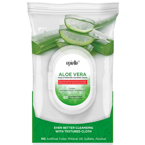Epielle Aloe Vera Make-Up Remover Cleansing Tissues, 60ct
