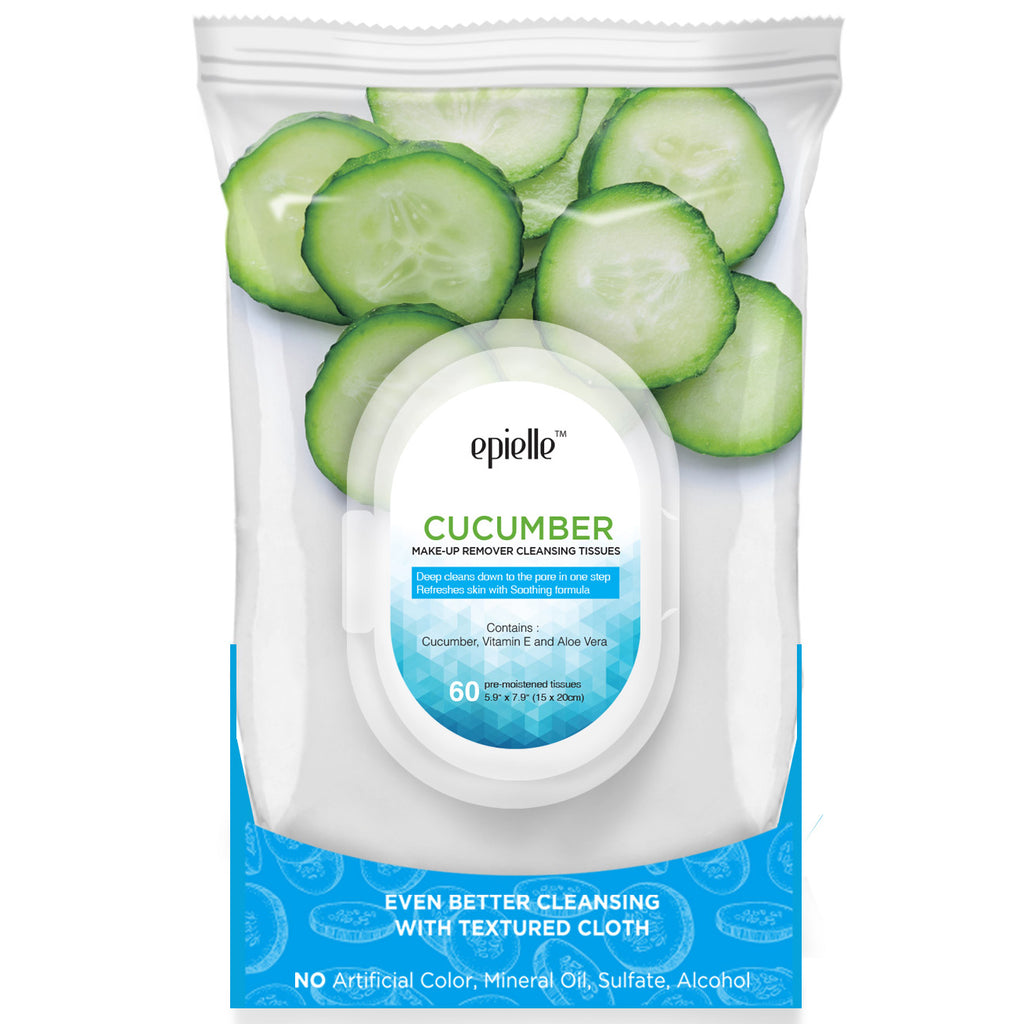epielle®Cucumber Make-Up Remover Cleansing Tissues, 60ct
