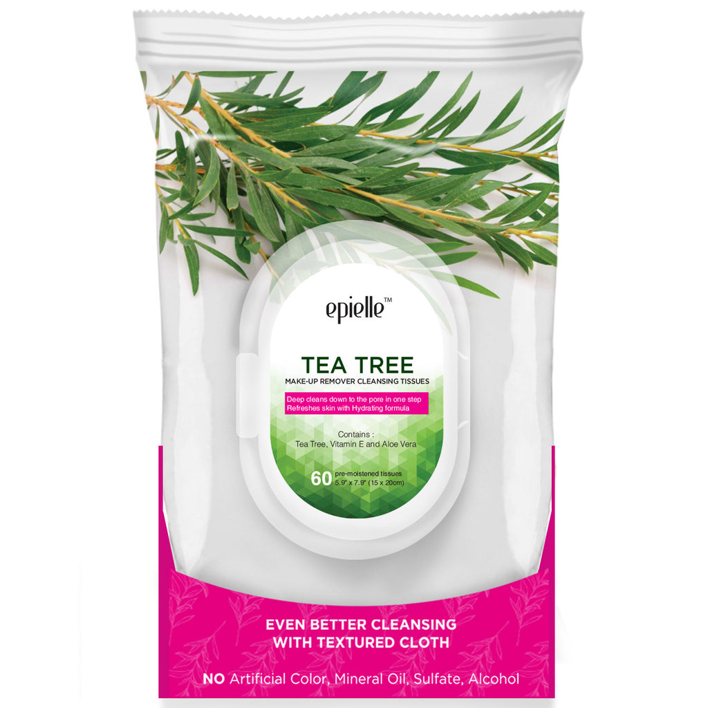 epielle®Tea Tree Make-Up Remover Cleansing Tissues, 60ct