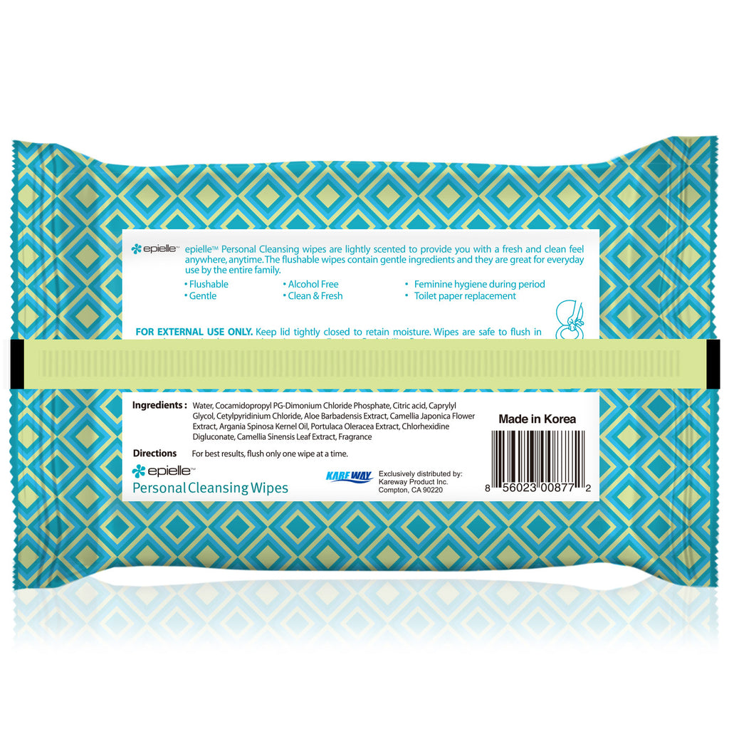 epielle®Personal Cleansing Wipes, 36ct