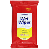 Pure-Aid Wet Wipes Cleansing Tissues, 30ct