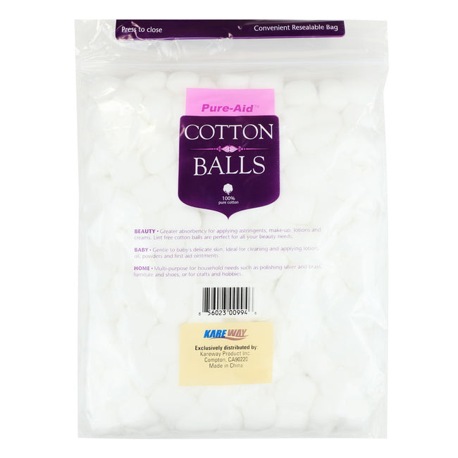 Pure-Aid 100% Cotton Balls, 300ct