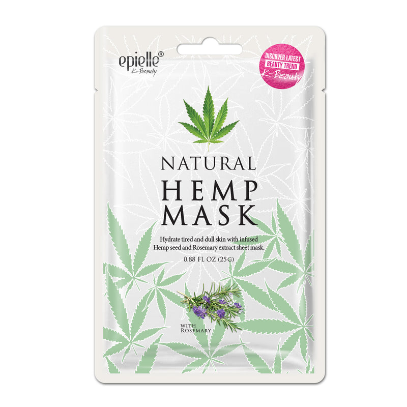 Natural Hemp Mask with Rosemary, 1ct