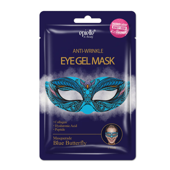 epielle®Blue Butterfly Masquerade Eye Gel Mask-Antiwrinkle, 1ct