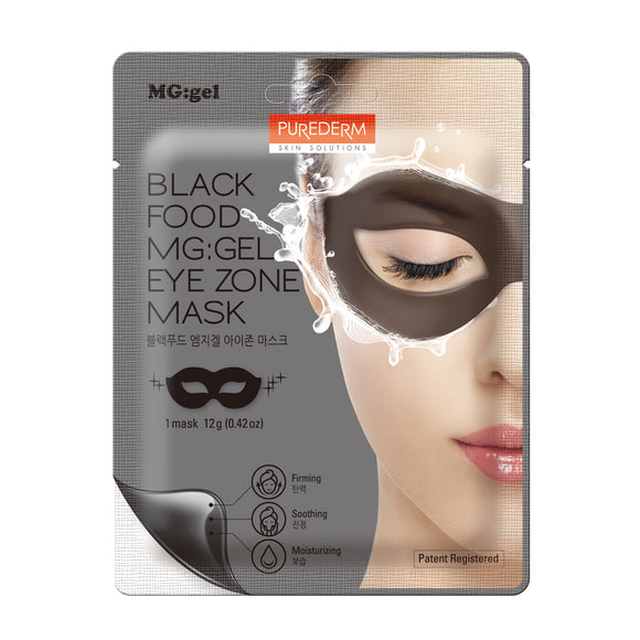 Purederm - Black MG-Gel Eye Zone Mask, 1ct
