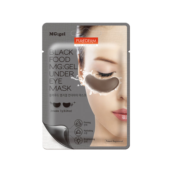 Purederm - Black MG-Gel Under Eye Mask, 1ct