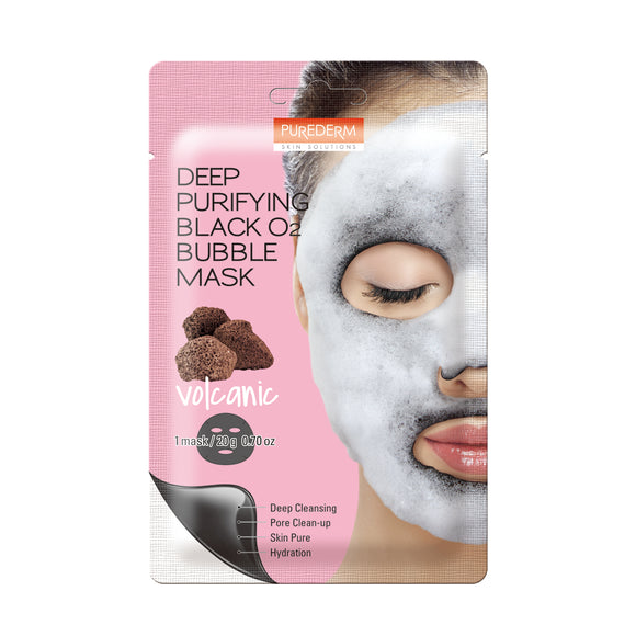 Purederm Deep Purifying Black O2 Bubble Mask - Volcanic