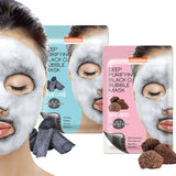 Purederm Deep Purifying Black O2 Bubble Mask - Charcoal