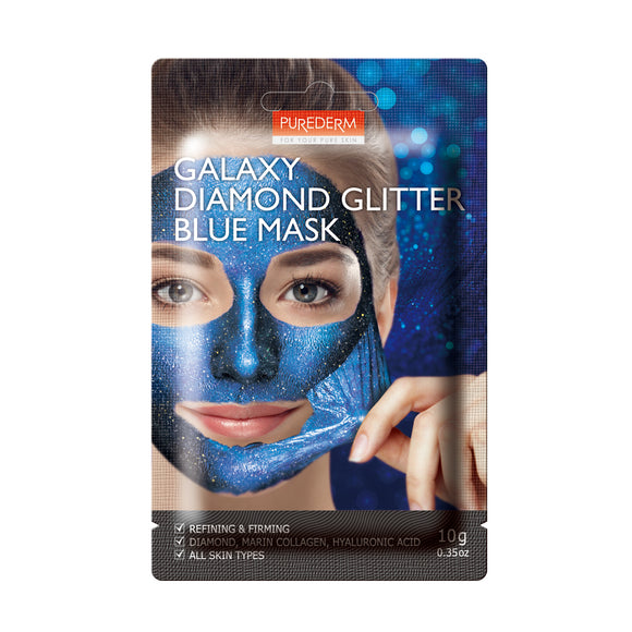 Purederm Galaxy Diamond Glitter Blue Mask, 1ct 0.35oz