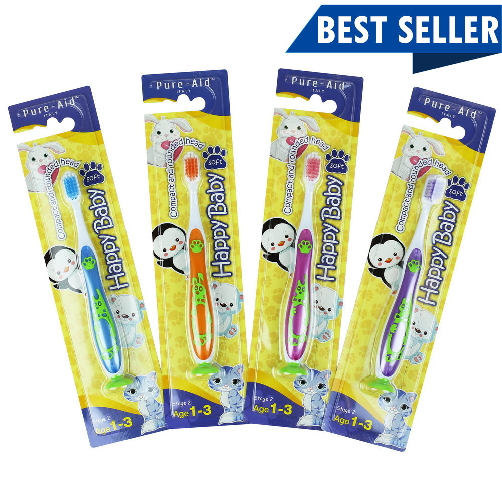 PURE-AID Happy Baby Toothbrush-Soft, 1ct