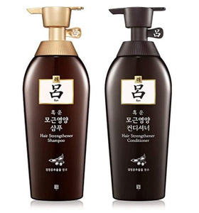 Ryo Heukwoomo Hair Strengthener Rinse Shampoo and Conditioner, 1ct each