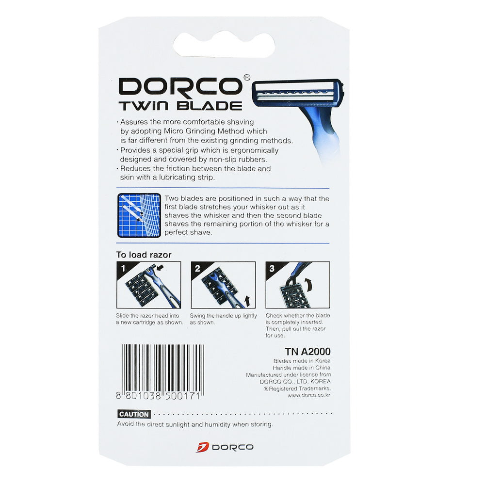 Dorco Twin Blade Razor Set - TN A2000